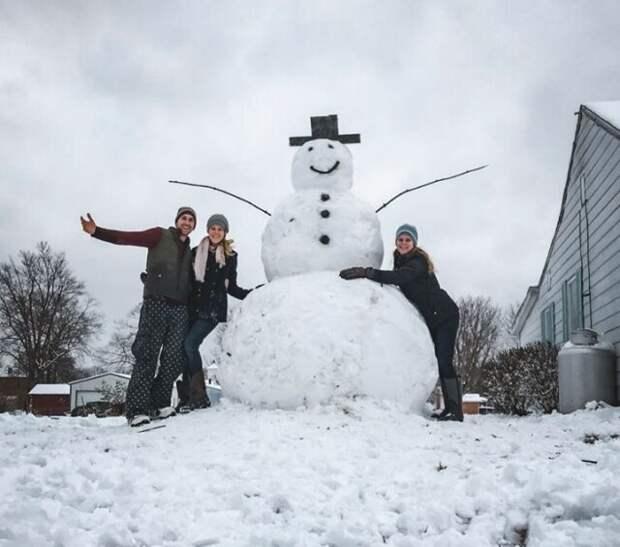 Моментальная расплата за попытку уничтожить снеговика Зависть, подвох, расплата, снеговик