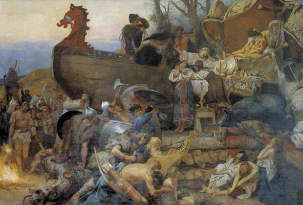 Изображение: картина Генриха Семирадского. «Похороны знатного руса»