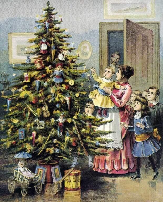 Нарядная елка всегда была большой радостью для детей