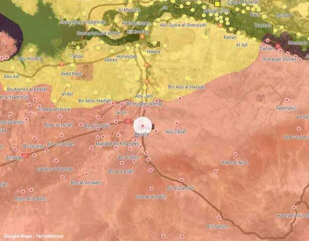 Место засады на карте Ракки