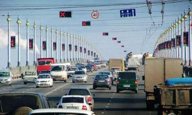 В Москве загадочно исчезла одна из трех реверсивных полос