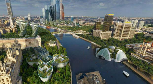 Москва в2050 году: отсутствие пробок, космические туристы иполеты натакси
