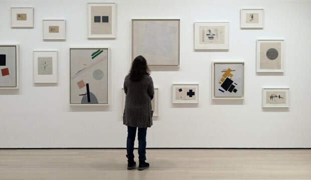 Картины Казимира Малевича в Музее современного искусства. \ Фото: tripleprofit-zone.life.
