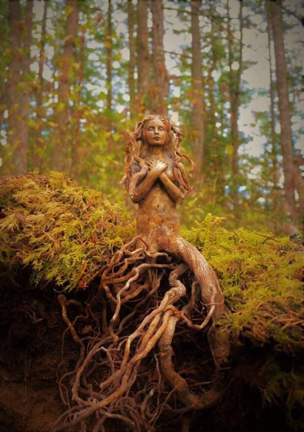 Фантастические скульптуры из старых коряг - вдохновляемся!