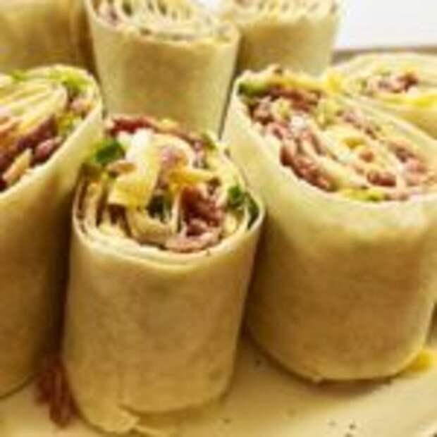Рулет из лаваша – удивительно простой и вкусный рецепт, просто восторг!