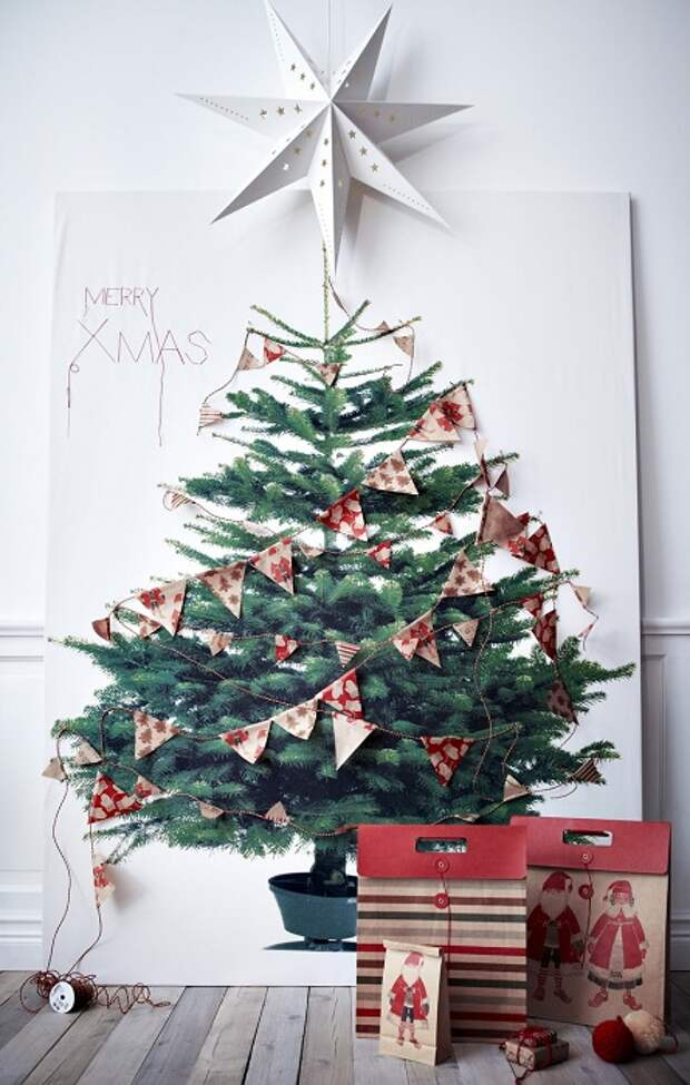 Интересный вариант создать отличную обстановку создав новогоднее настроение.