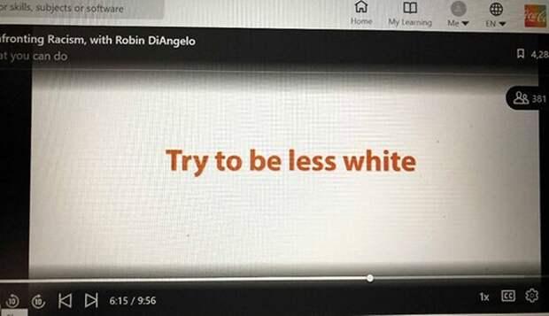 В тренинге для Coca-Cola сотрудников призвали «быть менее белыми»