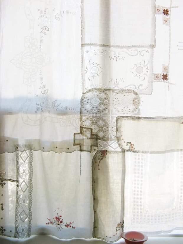 Необычные шторы на кухню (подборка)