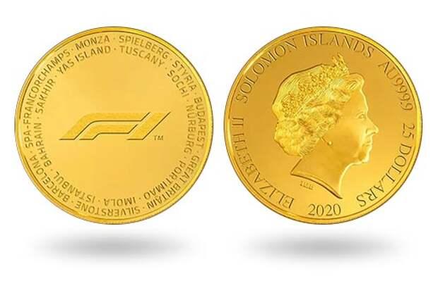 Соломоновы острова выпустили золотую монету в честь «Формулы-1»