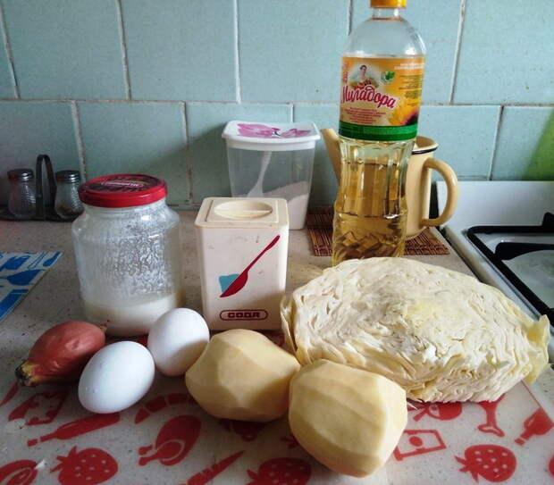Картофельно-капустный пирог - без возни с тестом
