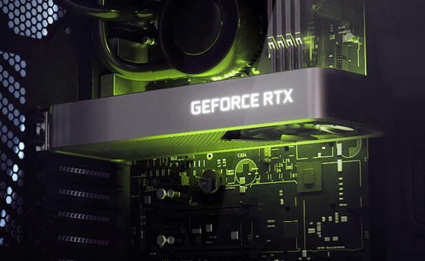 Рендер GeForce RTX 3060 в эталонном исполнении NVIDIA