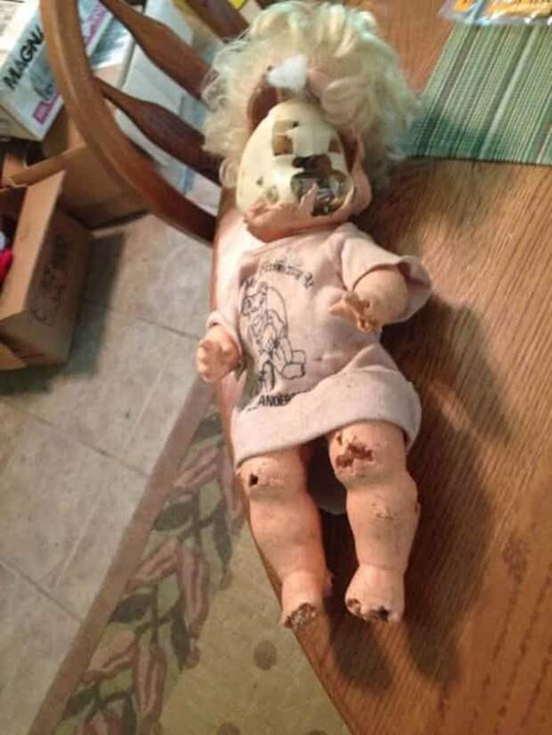 Старая кукла находки, неожиданности, чердак