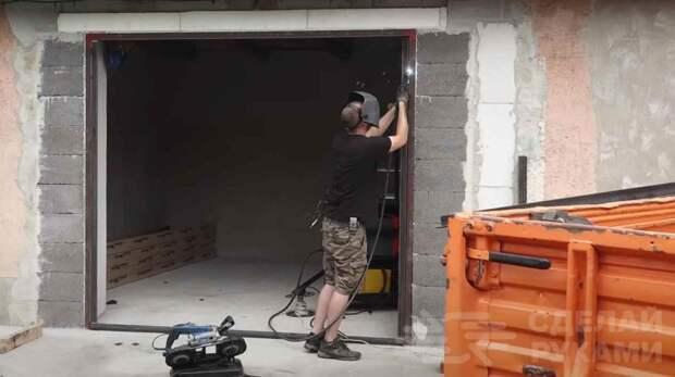 Интересный способ изготовления складной двери