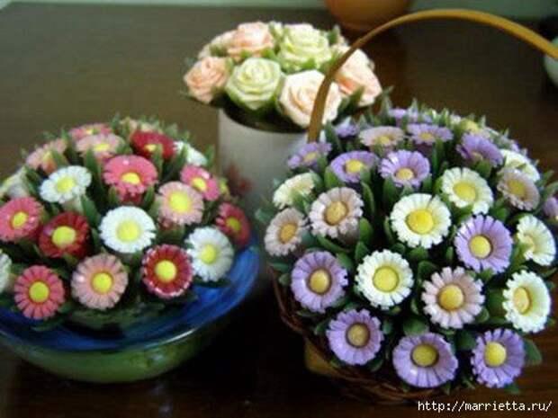 Цветы из коктейльных трубочек - очень просто! (мастер-класс и идеи)
