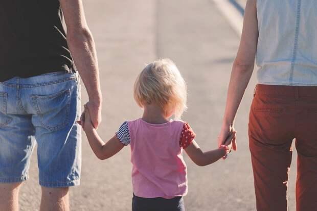Любовь, Пляж, Родители, Ребенок, Семья, Девочка