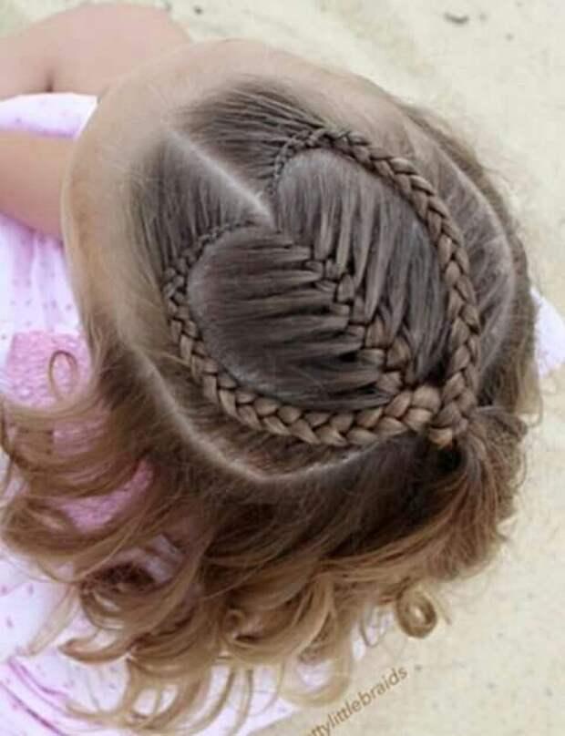 детских причесок на основе косичек