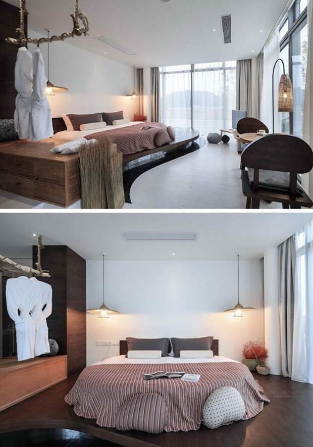 Комфортная обстановка, что станет потрясающим решением с такой крутой кроватью.