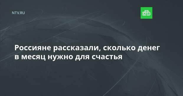 Россияне рассказали, сколько денег в месяц нужно для счастья