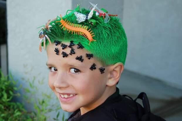 прически карнавальные для мальчиков на хеллоуин