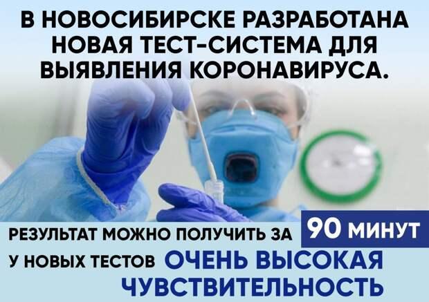 Ученым из Новосибирска удалось создать новый экспресс-тест для определения COVID-19