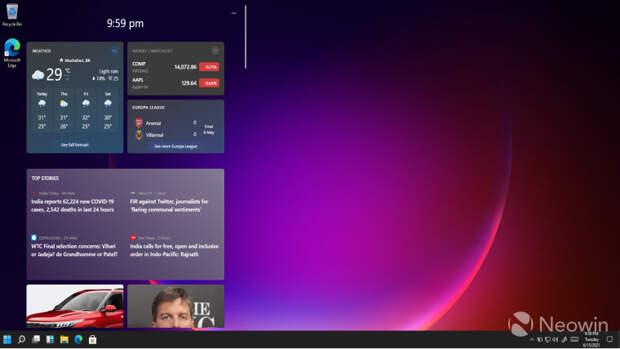 Microsoft не просто вернёт в Windows полноценные виджеты, в Windows 11 появится поддержка виджетов сторонних разработчиков