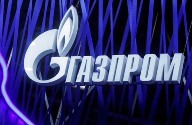 The logo of Russian gas giant Gazprom is seen on a board at the St. Petersburg International Economic Forum (SPIEF), Russia, June 6, 2019. REUTERS/Maxim Shemetov