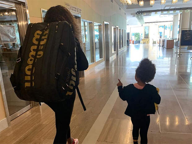 Серена Уильямс с дочерью