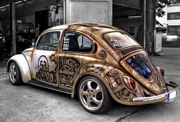 Steampunk VW Beetle автоприкол, творчество, тюнинг