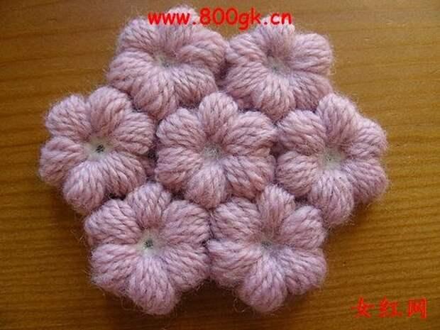 Цветочки крючком для вязания пледов, покрывал, подушек и сидушек (14) (500x375, 124Kb)
