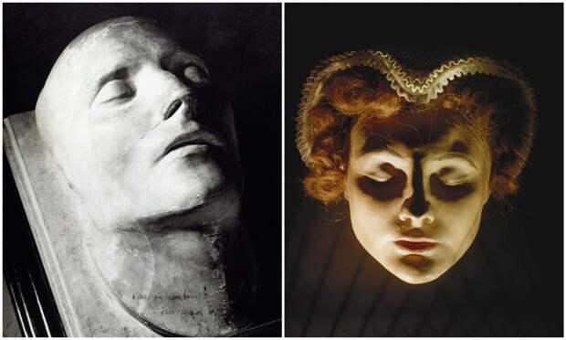 26 посмертных масок известных исторических личностей