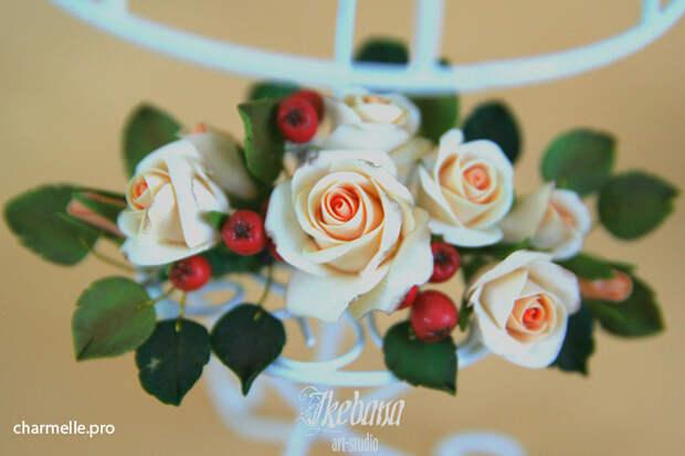 Цветы и ягоды из полимерной глины