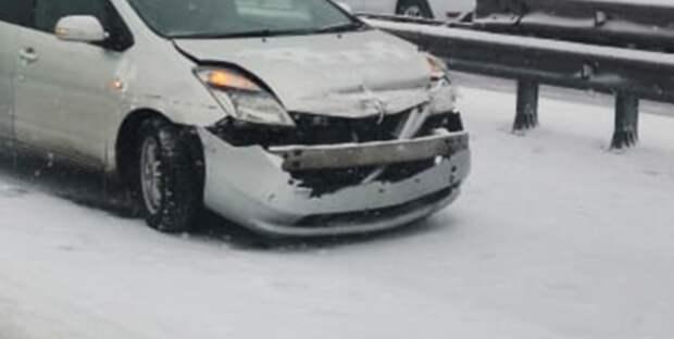 В Казахстане 13 автомобилей столкнулись в одном ДТП
