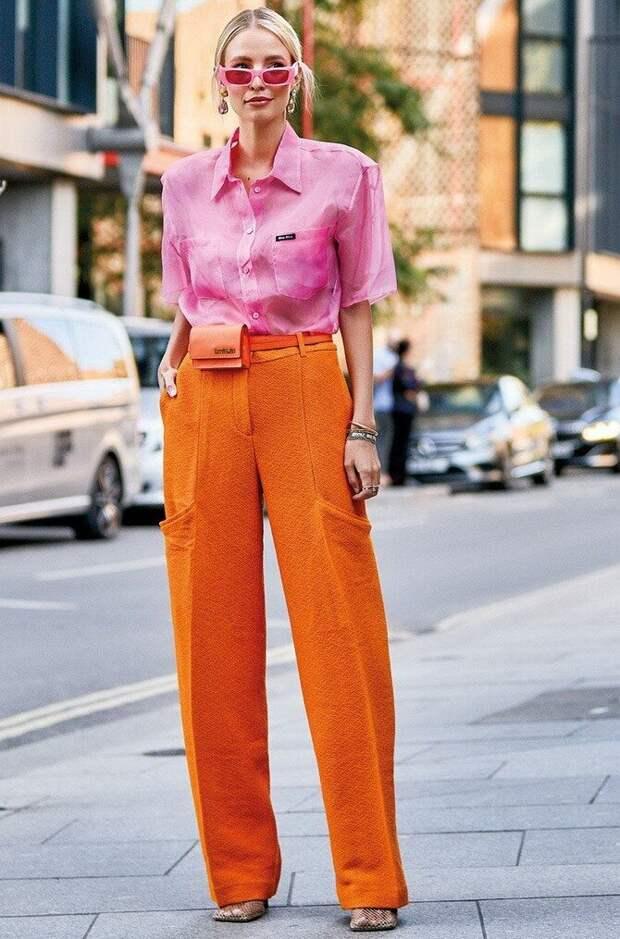 Оранжевый — яркий цвет для красивых луков