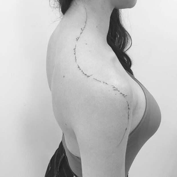Изящные черные татуировки (подборка)