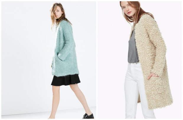 Модное пальто букле 2018