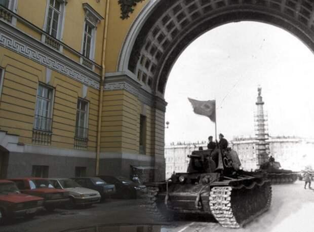 Ленинград 1941-2009 Арка Главного Штаба. Тяжелый танк КВ-1 блокада, ленинград, победа