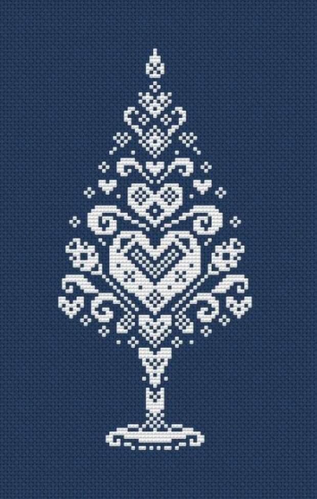 Новогодняя вышивка. Схемы
