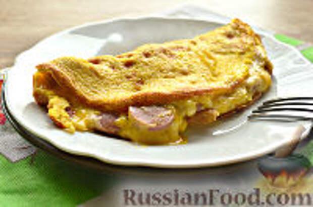 Фото приготовления рецепта: Бризоль с сосиской и сыром - шаг №12