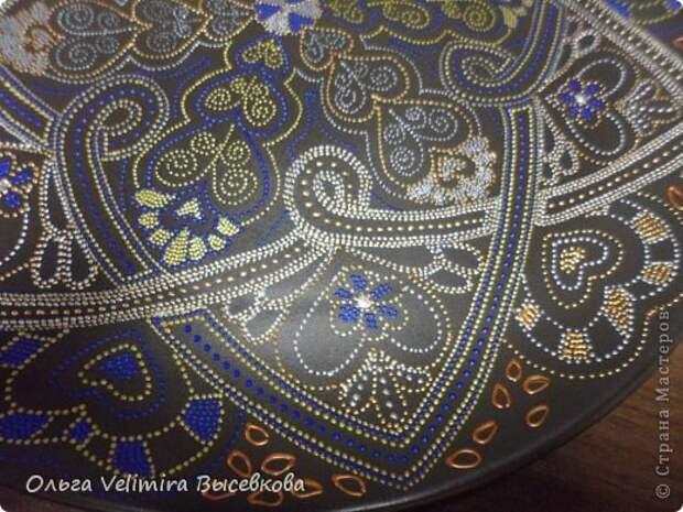 Декор предметов Роспись Тарелка Сердце Востока МК для начинающих Краска Стекло фото 14