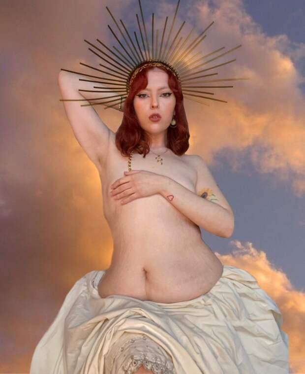 С обвисшим животом, но высокой самооценкой: Раскрепощенная Джессика Блэр и ее фото вбелье