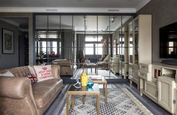 Зеркала в гостиной: виды, дизайн, варианты форм и фото-галерея