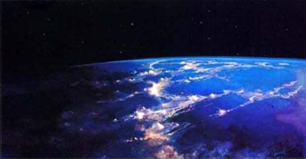 Такой увидел Землю космонавт-художник.