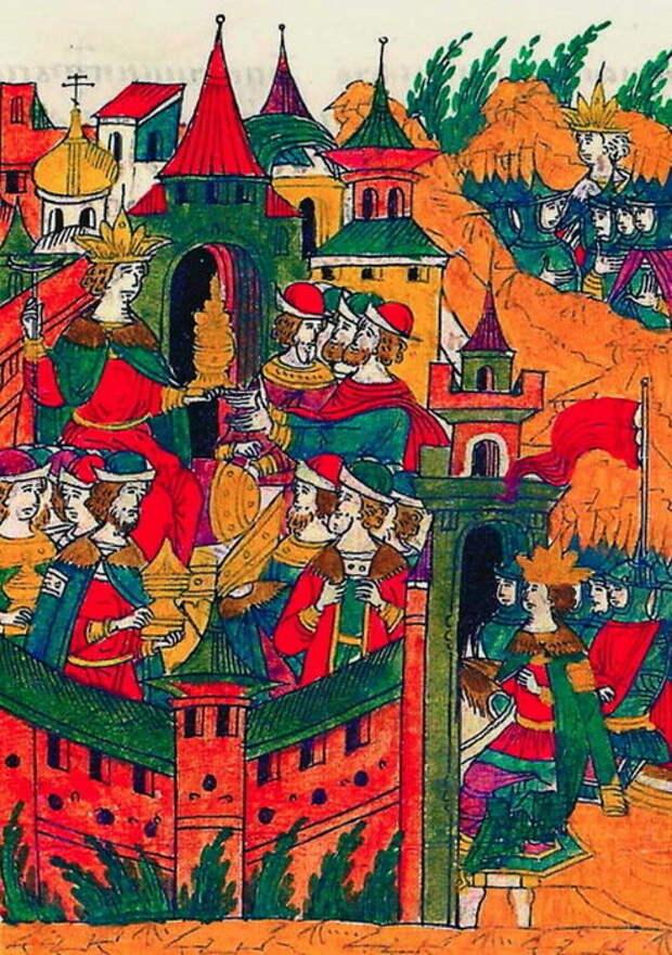 Возвращение Ивана Грозного в Москву и чествование воинов-участников похода.