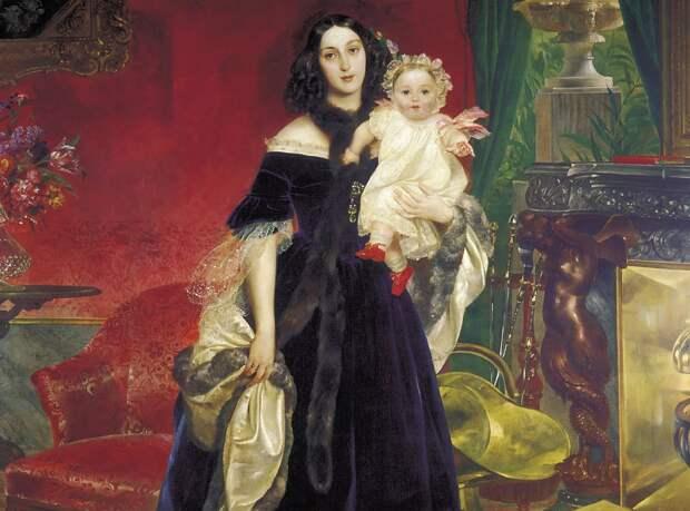 Мария Бек с дочерью. худ. К. Брюллов. Из собрания Третьяковской галереи.