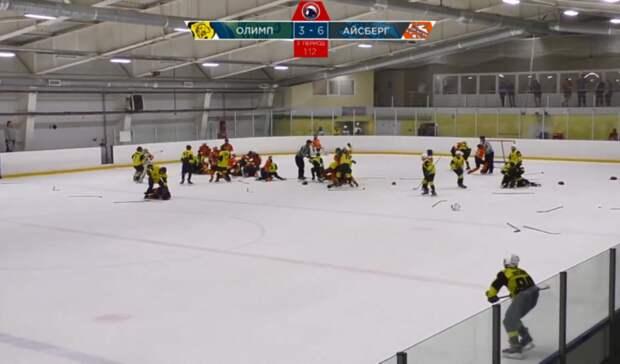 Финал детского хоккейного турнира в Саратове завершился массовой дракой