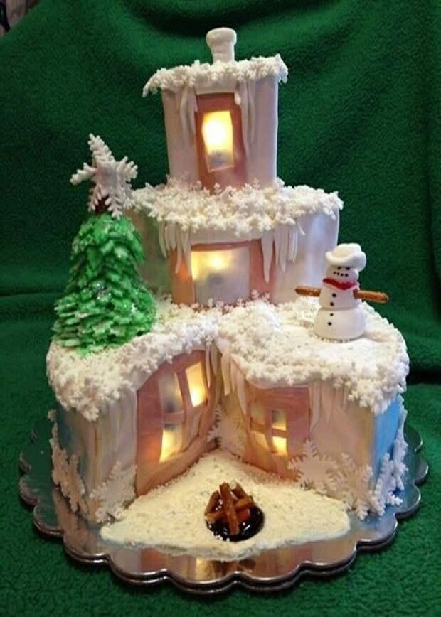 Новогодние торты (подборка)