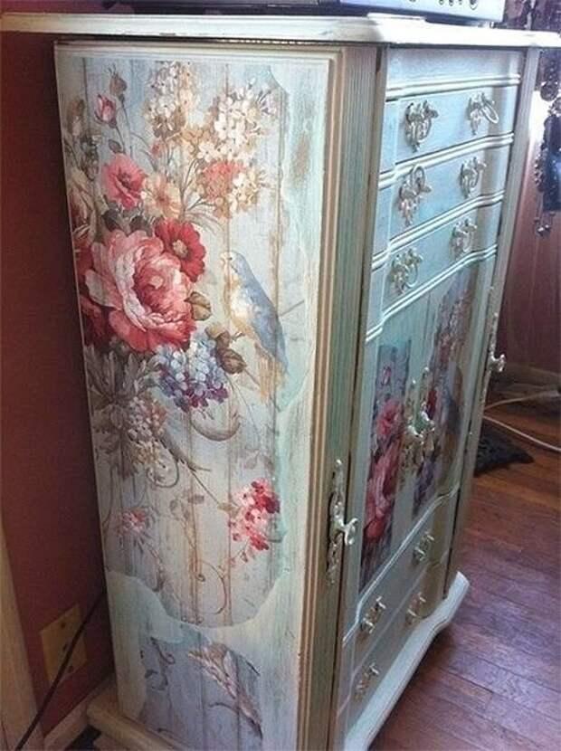 Идеи росписи и декупажа старой мебели.