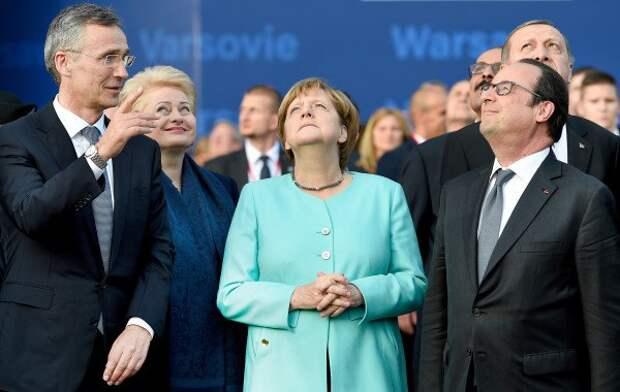 Bundeskanzlerin Merkel beim Warschauer Nato-Gipfel.. (Foto: dpa)