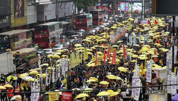 Демонстранты вернулись на улицы Гонконга. Архивное фото