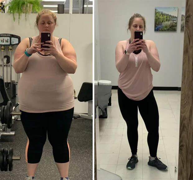 11 вдохновляющих фото людей до и после похудения